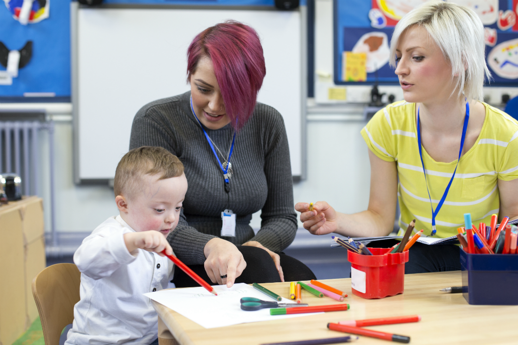 SEN teacher working in a nursery school